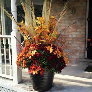 White Urn Planters by Dressing Your Fall Planters Dressed To A T