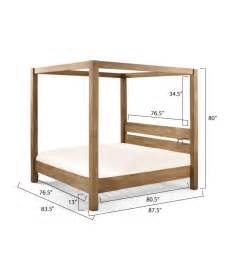 wood canopy bed frame wooden canopy bed frame mission solid mango wood 4 post