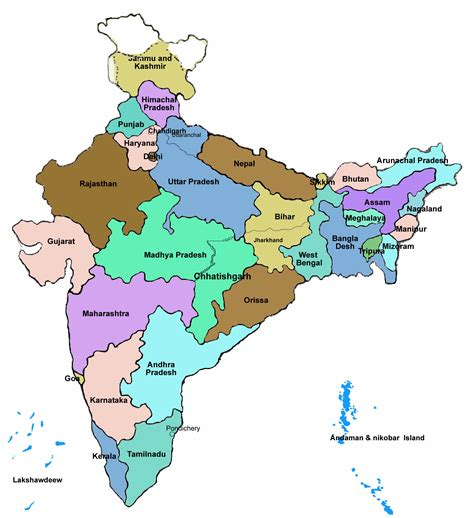 indian states india maps india travel map india travel guide