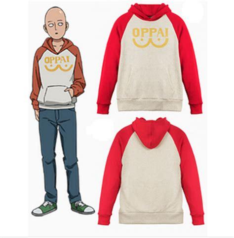 Jaket Hoodie Saitama Oppai Sweater Limited Berkualitas 1 buy design japanese anima one punch suit set