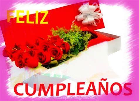 imagenes de feliz cumpleaños amiga con rosas rojas feliz cumplea 241 os en tarjetas de ramos de rosas postales