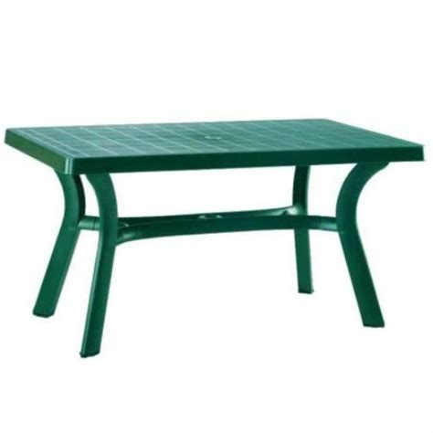 Plastic Patio Tables by Compamia Isp182 Gre Green Resin 55 Quot Rectangle