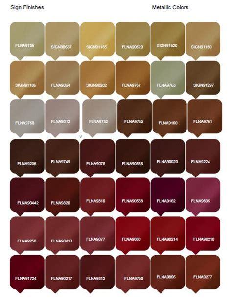 metalic color color palette brochure