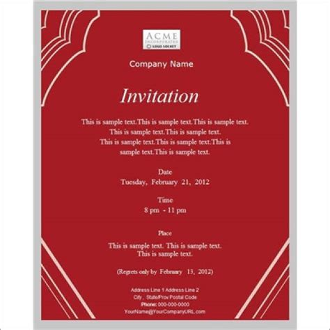 business invitation card template word 52 meeting invitation designs free premium templates