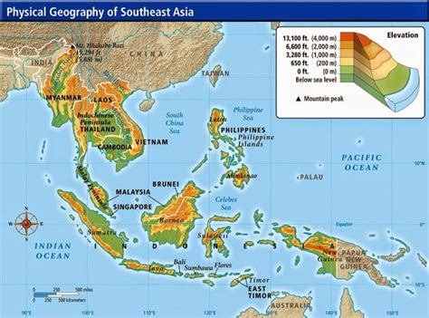 Top Mba Colleges In Southeast Asia by Physical Maps Of Southeast Asia Free Printable Maps