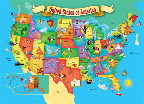 maps of the usa with states this usa map 60 puzzle by masterpieces is an