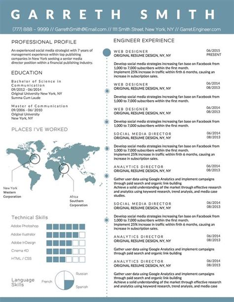 cv format word for engineers creative infographic clean business resume template for