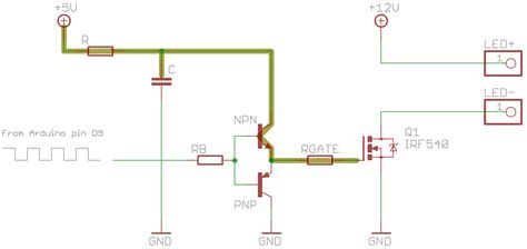 starlight dimming a 12v led with a mosfet and pwm