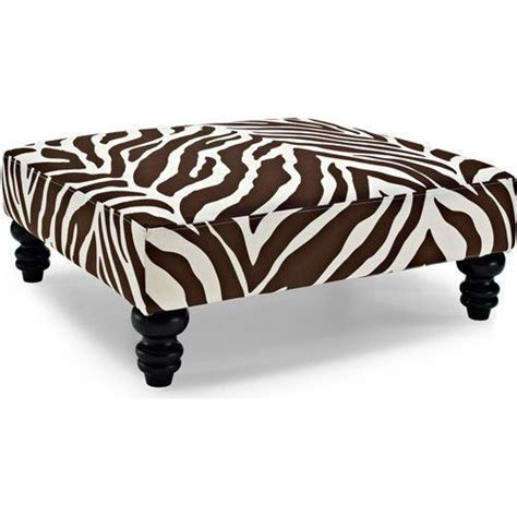 brown zebra ottoman new brown cocktail ottoman footrest modern oversize zebra