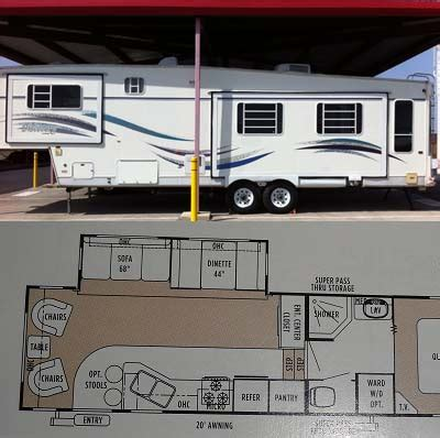 hitchhiker rv floor plans 1998 34 5 nuwa hitchhiker discovery w 2 slides fifth wheel