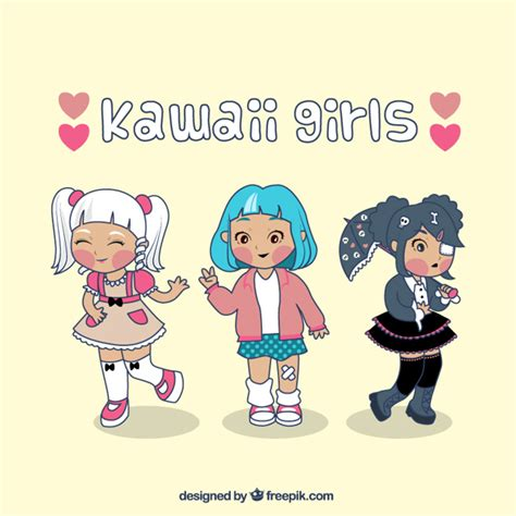 imagenes kawaii chicas kawaii dibujos chicas