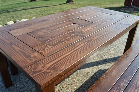 Cedar Patio Table Plans 209 Rustic Outdoor Table 2 Of 2 The Wood Whisperer Outdoor Dining Table Design Furniture Ideas
