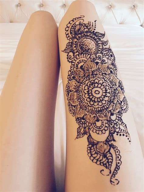 thigh tattoo designs tumblr henna on leg