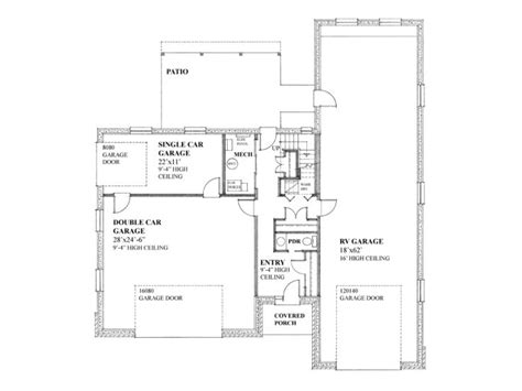 rv garage floor plans unique garage plans unique garage apartment plan with rv