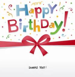 happy birthday card free happy birthday greeting card vector free vector