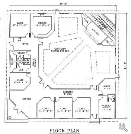 metal church building floor plans church plan 126 lth steel structures