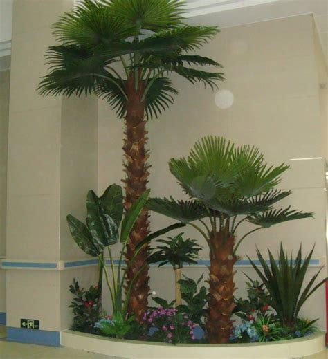 wholesale artificial palm tree fake plastic palm tree for