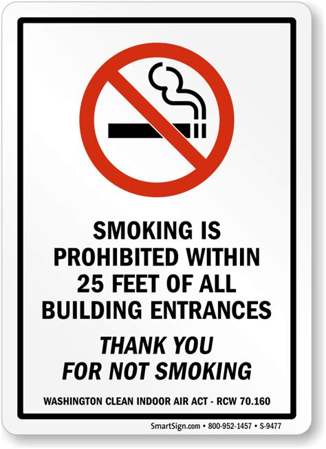 no smoking sign requirements california no smoking within 25 feet signs