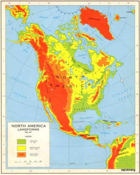 america map landforms 1965 american landforms