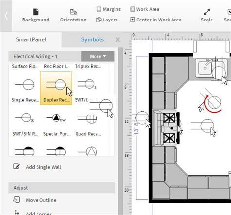 how to show electrical outlets on floor plan advanced floor plan tutorial creating layers