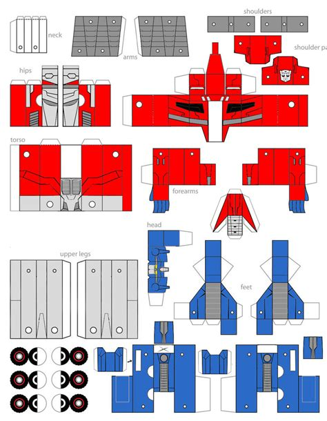 Transformers Papercraft Optimus Prime - paper crafts transformer animated