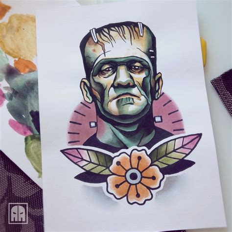 tattoo fixers halloween frankenstein best 25 halloween tattoo flash ideas on pinterest flash