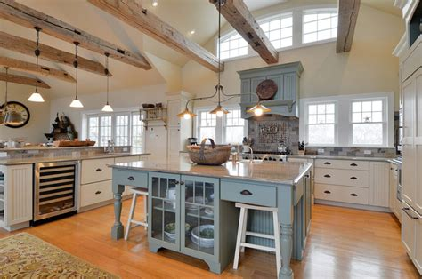 a rustic wine country retreat painted wood cabinets contrast with reclaimed fir while handmade kitchen design ideas ultimate planning guide designing
