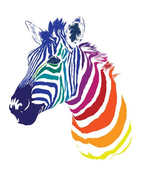 rainbow zebra art print by olechka society6