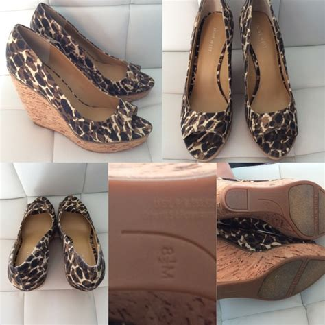 Joston Printed Peep Toe Wedges By Nine West by 69 Nine West Shoes Nine West Leopard Print Peep Toe