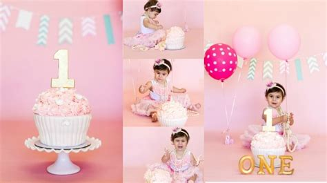 Cake 1 Inch 16 Shoot simple birthday cake for 1 year baby image