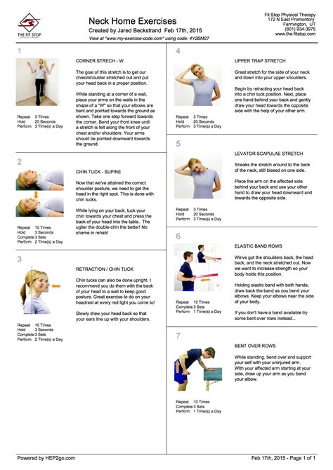 feel better now series home exercises to treat neck