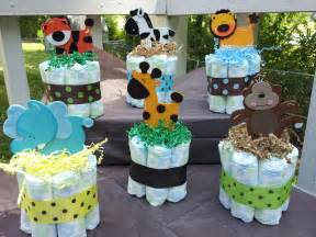 1 jungle theme mini diaper cake baby shower by