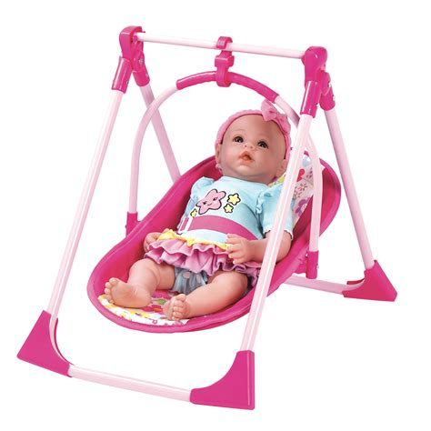 Adora Dolls 4 In 1 Play Set Baby Carrier Seat Swing And
