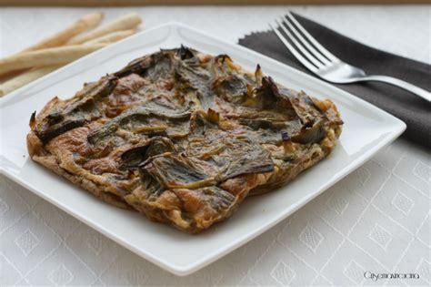 cucina salutare ricette frittata di carciofi al forno ricetta salutare