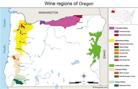 map of oregon vineyards united states map of vineyards wine regions