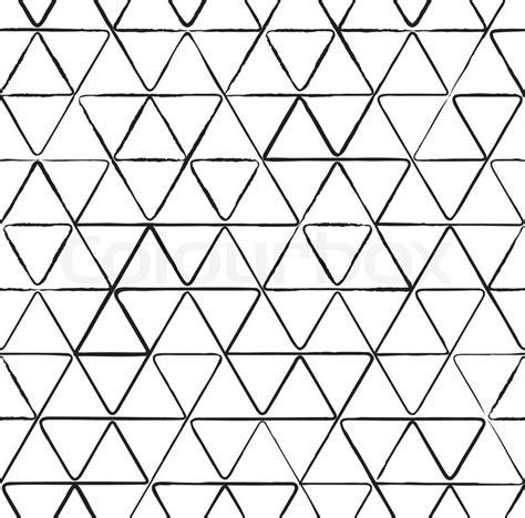Muster Zeichnen Nahtlose Muster Mit Tinte Dreiecke Zeichnen Vektorgrafik Colourbox