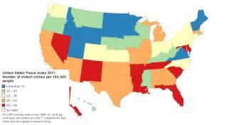 united states peace index 2011 crime ranking