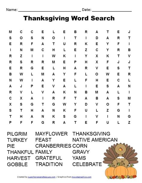 Www Search Free Thanksgiving Word Search Free Printable