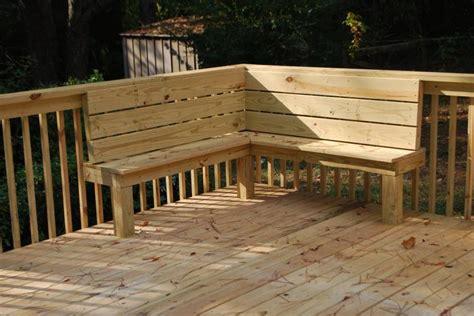 bench seat deck railing build deck railing