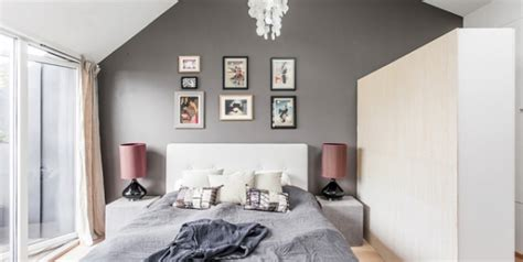 graue wand schlafzimmer contemporary nordic residence in black and white decor