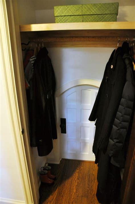 parents build hideout in closet secret door