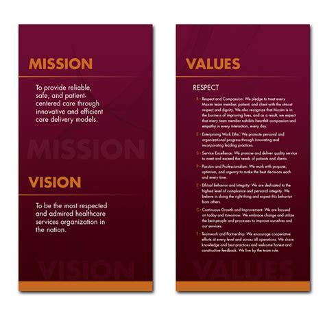 design vision maxim mission vision values signage on behance