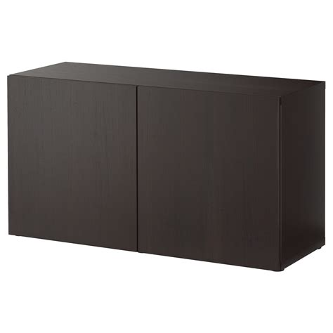 besta shelf unit with doors best 197 shelf unit with doors lappviken black brown 120x40x64 cm ikea