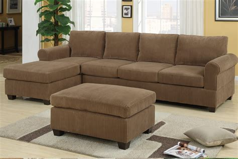tan sectional f7146 tan sectional sofa set by poundex