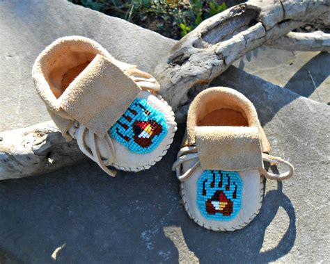 Handmade Moccasins For - handmade baby moccasins beaded infant mocs paw