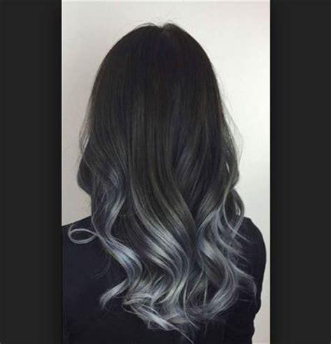 koyu gri ombre saç renklerine dönüş saç