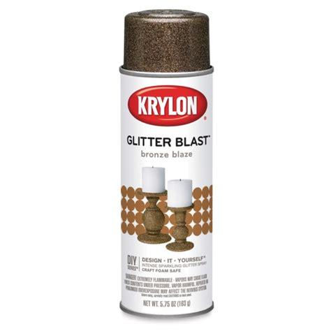Bronze Shimmer Spray krylon glitter blast spray paints blick materials