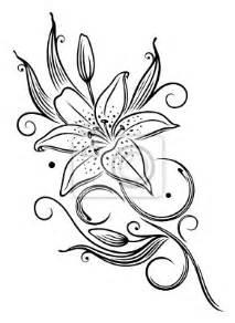 sticker lilie lilien filigran feminin ranke blume
