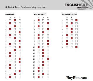 New English File Intermediate Quicktest
