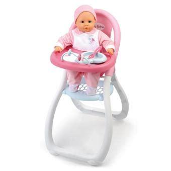 chaise haute smoby smoby baby chaise haute accessoire poup 233 e achat